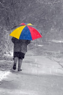 colourful-umbrella-and-man